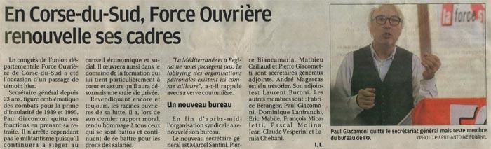 Cliquez pour agrandir l'article de Corse-Matin